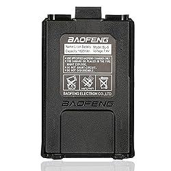 Baofeng 7.4v 1800mah Li-ion Battery For Baofeng Walkie Talkie Dm-5r Uv-5r Uv-5re Bf-f8hp Uv-5r V2+ Plus Uv-5rtp Series Two Way Radio (Black)