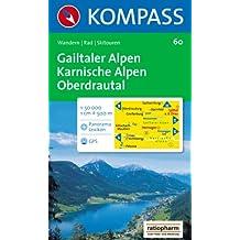 Gailtaler Alpen, Karnische Alpen, Oberdrautal: Wandern / Rad / Skitouren. Mit Panorama. GPS-genau. 1:50.000