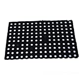 #3: Kuber Industries™ Dirt Rubb Off Clean Footwear Thick Rubber Doormat for Offices,Hotel ,Restaurant, Home,Shop Color-Black (Size : 60 cm x 42 cm x 1.5 cm)