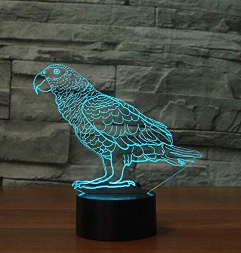 Nachtlicht Wandleuchte Led Lampe 7 Farbe Atmosphäre Led Tischlampe Wellensittich Vogel Nightlight Usb Touch Button Papagei Form Lampara Baby Schlaf Beleuchtung Kinder Geschenk für Küche Schlafzimmer -