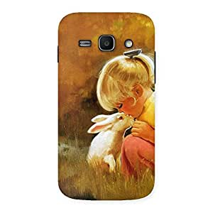 Neo World Cute Girl And Rabbit Art Back Case Cover for Galaxy Ace 3