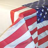 Carpeta Tischdecke * USA & Amerika * für Geburtstag oder Mottoparty   Größe: 137 x 259 cm   Stars and Stripes Tischdeko Party Feier US