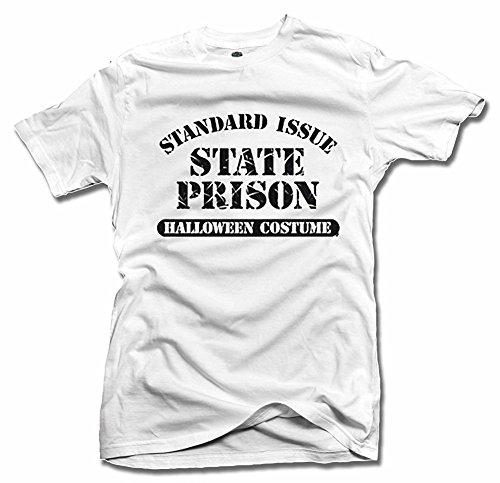 STANDARD ISSUE STATE PRISON HALLOWEEN COSTUME HALLOWEEN White Men's Tee (6.1oz)