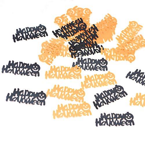 Amosfun Papier Konfetti Brief Konfetti Happy Halloween Cuttings Tisch werfen Konfetti für Halloween Party 1 Pack 30g