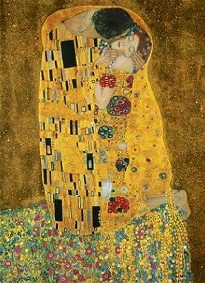 1art1 40518 Gustav Klimt - Der Kuss 4-teilig, Fototapete Poster-Tapete (254 x 183 cm) von 1art1 auf TapetenShop