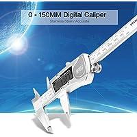 Storagc Vernier Caliper Gauge Pantalla Digital Acero Inoxidable Waterproof Vernier Caliper Pinza Digital electrónica con Pantalla LCD Extra Grande