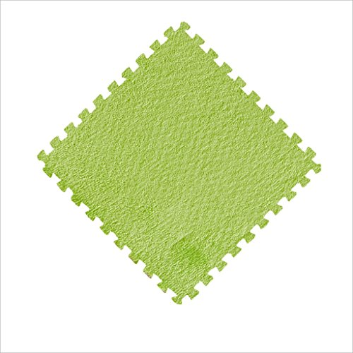 FANXIAOMING HHHA Carpet, Plus Bedroom Carpet Carpet Mosaic Puzzle Mats Foam Foam Mat Mat Children's Room Blanket Area Rugs (Color : Grass green, Size : 30*30*1cm- 9 sheet)