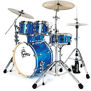 GRETSCH DRUMS GRETSCH RENOWN MAPLE ROCK 24 - BLUE SPARKLE Batterie acoustique Rock