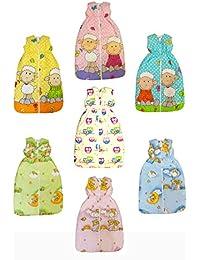 DAS ORIGINAL BOMIO® Baby Winter-Schlafsack, Öko-Tex Standard 100, (Bärchen (Hellblau), 110 cm (18-36 Monate))