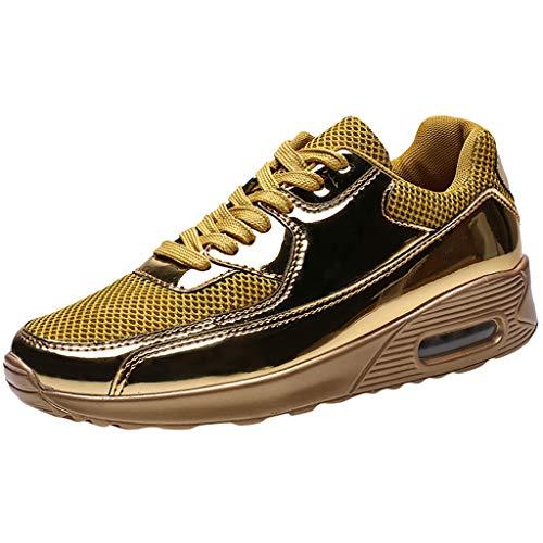 Gold Kids Shoe Cover (KERULA Men Sneaker,Herren Sneakers Ultraleichter Atmungsaktiver Sportlicher Lauf Freizeitschuh Unisex Fashion Low-Top Sportschuhe Elastische Basketballschuhe)
