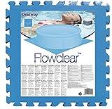 Woodega flowcleartm Piscina protezione pavimento piastrelle, Set 8pezzi, 50x 50x 0,4cm, colore: blu