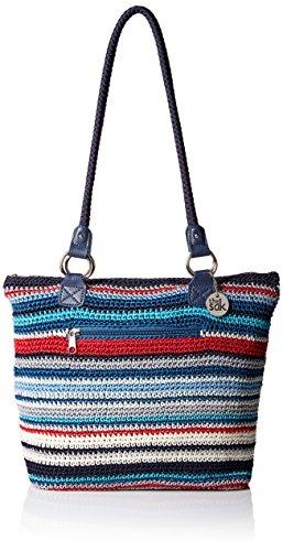 The SAK Damen Shopper Shoulder Bag Lauren Einkaufstasche/Schultertasche, Marina Stripe, Einheitsgröße (Sak Geldbörse Frauen)