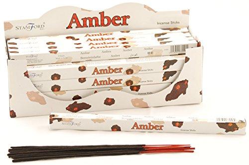 Stamford Lot de 25 boîtes de 8 bâtonnets d'encens Ambre