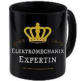 Tasse Elektromechanik Expertin schwarz