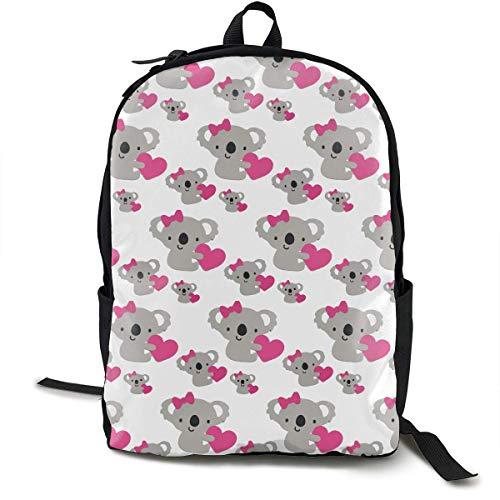 Casual Daypack Grande capacità Multiuso antifurto Bookbag Zaino per liceo all'aperto Running - Love Carino Koala Bear, Zaino da Viaggio Escursionismo