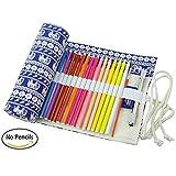 Trousse, Étui à crayons, Pencil Case, 36/48/72 Slots disponibles (48 Slots, éléphant)