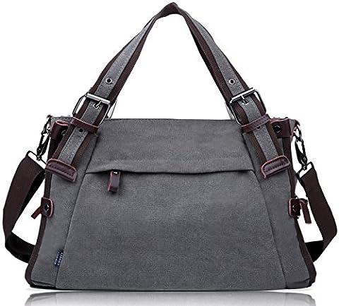 Coofit Damen Canvas Umhängetasche Messenger Bag Handtasche Hobo