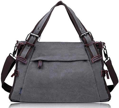Coofit Damen Canvas Umhängetasche Messenger Bag Handtasche Hobo