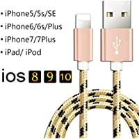 [50CM] Câble Pour iPhone 7 / iphone 7plus Smartphone - Ultime Rapide Charge /Synchro Lightning USB Cable [Noir&Or]
