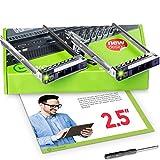 WorkDone 2er Pack 2,5-Zoll Hard Drive Caddy - Festplattenrahmen für Dell PowerEdge Server und XC-Serie - 14. Generation R440 R640 R740 R740xd R840 R940 R7425 - DXD9H SSD SAS Halterung Träger