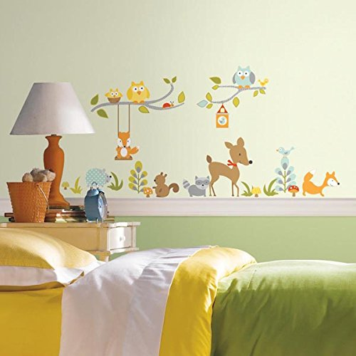 roommates-repositionable-woodland-fox-and-friends-wall-stickers