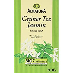 Alnatura Bio Grüner Tee Jasmin, 20 Beutel, 30 g