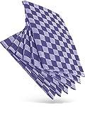 WoldoClean Geschirrtücher Geschirrtuch Trockentücher Küchen-Handtuch - 100% Baumwolle 50 x 70 Blau 6er Set ca. 200g/qm