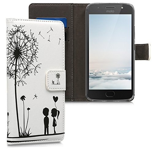 kwmobile Motorola Moto G5S Hülle - Kunstleder Wallet Case für Motorola Moto G5S mit Kartenfächern & Stand