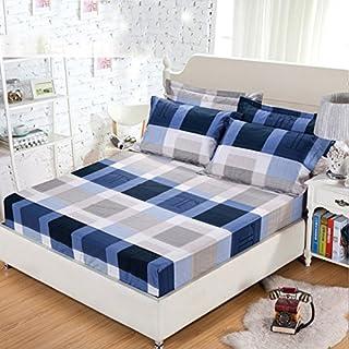 FHFGHYURBNYFGHFBY Ganze Baumwolle Single Piece/Bett-Sets aus Reiner Baumwolle/matratzenbezug/tagesdecke/matratze Staub Abdeckung/Haushalt/Leben/bettwäsche-L 180x200cm(71x79inch)
