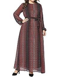 KRUIHAN Abaya Kaftan Mujer Dubai Ropa - Vestidos Musulmanes Abrigo Largo Jalabiya Maxi Larga Florales Elegante
