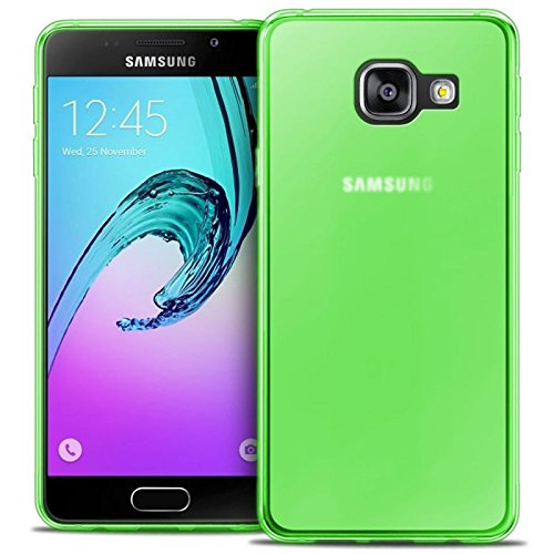 TBOC® Custodia Gel TPU Verde per Samsung Galaxy A3 (2016) A310F in Silicone Ultra Sottile e Flessibile