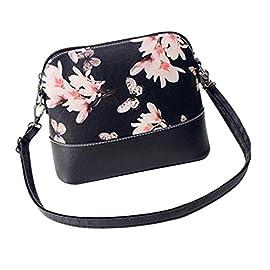 Yuan Women Shoulder Bag Printing Leather Purse Satchel Handbags Messenger Bag