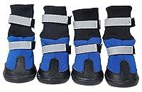 Morezi Chaussures pour Chien imperméables antidérapantes Bottes de Neige Chaudes Protection Patte pour Chien en Hiver