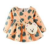 Babykleidung Mädchen Kleid,Sunday Säugling Kleinkind Mädchen Kleidung Outfits Neugeborenen Baby Set Herbst Winter Kleidung 0-6 Monate