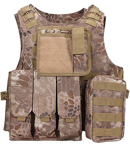 ThreeH Taktische Weste Modular Militärische Ausrüstung Feld Gaming Schutz Gilet für die Jagd Polizei SA0502B