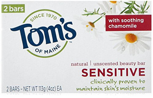 Toms Of Maine Sensitive Natural Beauty Bar Soap, 240ml 120ml+120ml, 240ml