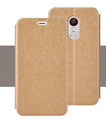 PREVOA ® 丨Flip PU Hülle with Hard Plastic Case Cover Case Schutzhülle Tasche für Nubia NX523J Z11 Max Smartphone (15 cm (6 Zoll), - (Gold)
