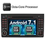 PUMPKIN Android 7.1 Octa Core 32GB + 2GB Autoradio für Mercedes-Benz mit Navi Unstertützt Bluetooth WLAN DAB+ Subwoofer DVD CD SD USB Rückfahrkamera AV-OUT 2 DIN 7 Zoll Bildschirm