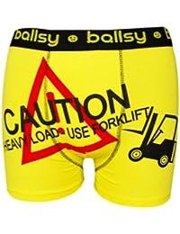 Mens Ballsy Boxer Shorts Designer Funny Rude Novelty Boxers Trunks Underwear
