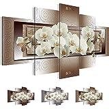 Bilder 200 x 100 cm - Orchidee Bild - Vlies Leinwand - Kunstdrucke -Wandbild - XXL Format – mehrere Farben und Größen im Shop - Fertig Aufgespannt - Blumen – Abstrakt 205451c
