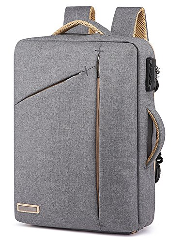 39,6 cm Diebstahlschutz Laptop Aktentasche Rucksack Wasserdicht Cabrio Multifunktionale 3 in 1 Laptop Rucksack - 1 Cabrio-aktentasche