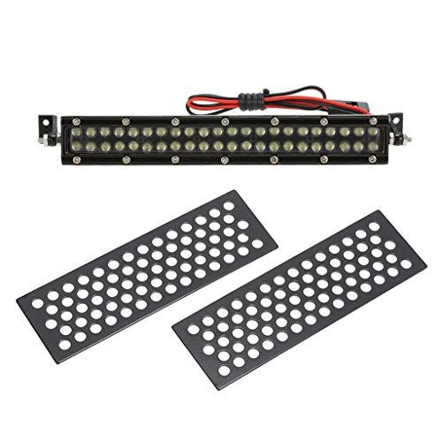sharprepublic 1/10 Skala Metall Sand Platten + 44 LED Licht Bar DIY Zubehör Für Axial SCX19 D90 CC01 RC Autos -