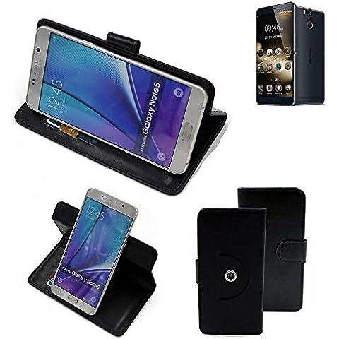 360 ° della copertura della cassa Smartphone Ulefone Power, nero | Cassa del raccoglitore stand funzione Bookstyle. Migliore prezzo, migliore prestazione - K-S-Trade
