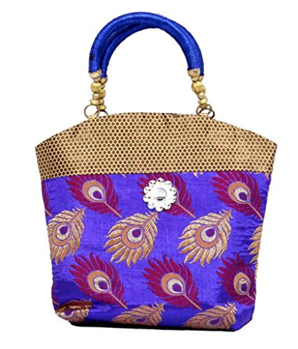 "Kuber Industriesâ""¢ Women\'s Mini Handbag 10*10 Inches (Purple)"