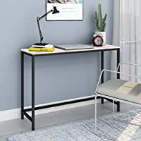 BOFENG Computer Desk Rustic Writing Desk,Home Office Table with Solid Wood and Heavy Duty Metal Frame Study Desk Made Of MDF