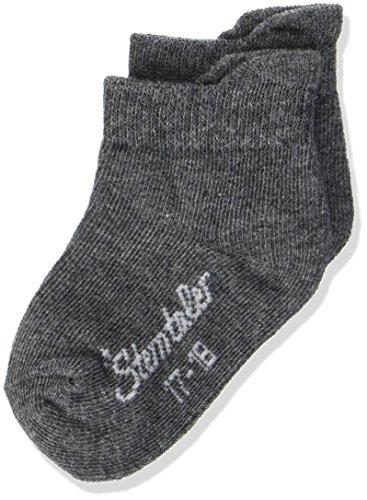 Sterntaler Sneaker-Socken Doppelpack, Alter: 18-24 Monate, Größe: 22, Dunkelgrau (Anthrazit melange) -
