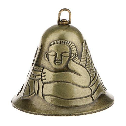 (Mini-Feng-Shui-orientalische Chinesische Metallglocke Charme Dekor - Engel)