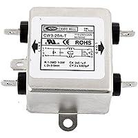 DealMux metal de fuente de EMI Filter CW3-20A-T AC 115 / 250V 20A 4-Pin