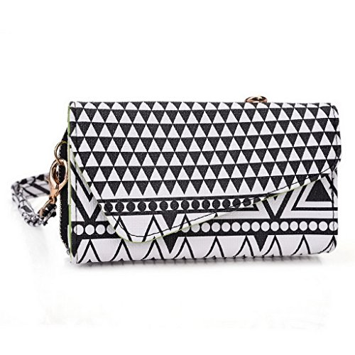Kroo Pochette/étui style tribal urbain pour SHUKAN A43/A42 Multicolore - White and Orange Multicolore - Noir/blanc