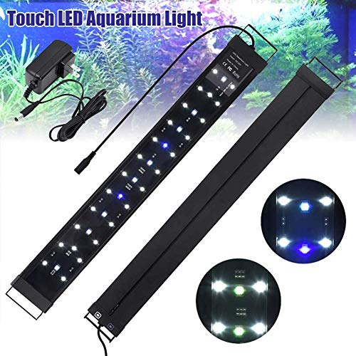 LuMon Aquarium Led-Licht, Dehnbar Aquarium Licht, Tippen Sie auf Schalter, Ultra Hoch Spectrum Aquarium Licht, Süßwasser Brine Dekoratives Licht - 120cm Style:10pcs -